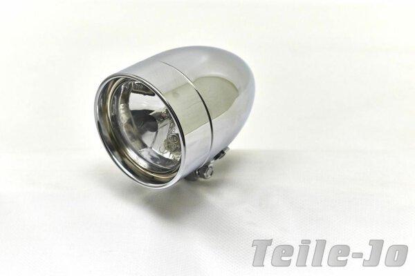 """4"""" Klarglasscheinwerfer Headlight Stretch, Hidden Lens, Diamond Cut, Chrom"""