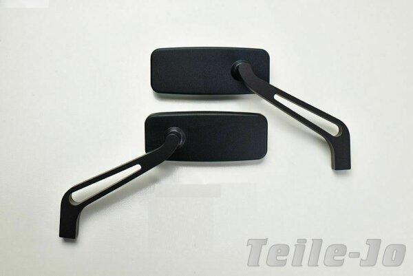 Alu Spiegel schwarz-matt blaues Spiegelglas 1 Paar Harley Davidson Breakout
