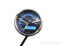 Digitaler Tacho 60 mm, blau beleuchtet, E-geprüft -...