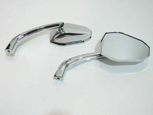Edler Aluminium Spiegel E-Prüfzeichen hochglanz-verchromt Harley Breakout