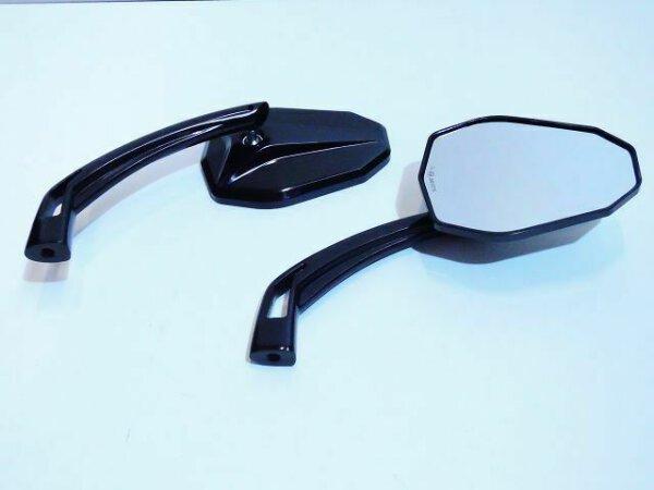 Edler Aluminium Spiegel E-Prüfzeichen schwarz-eloxiert Harley Breakout
