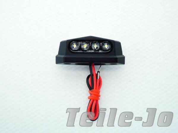 Kennzeichenbeleuchtung mini ALU schwarz universal Custom Chopper Harley Bobber