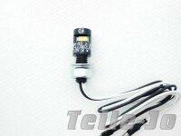 Kennzeichenbeleuchtung rund schwarz mini universal Custom...