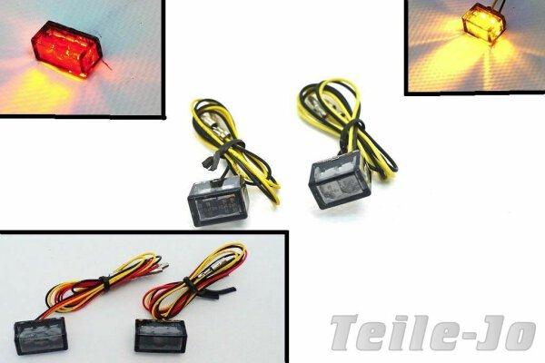 LED Blinker + Rücklicht im Set - mit Prüfzeichen - Cubes - sehr klein
