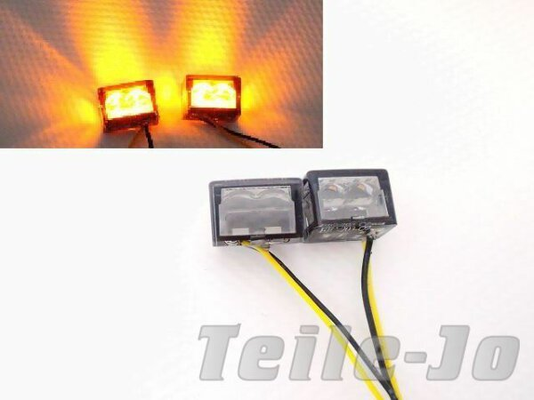 LED Blinker Cube, Würfel, 1 Paar, Mit Prüfzeichen - sehr klein - Umbau - Styling