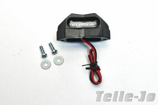 LED Micro Kennzeichenbeleuchtung, Kennzeichenleuchte Metallgehäuse, schwarz