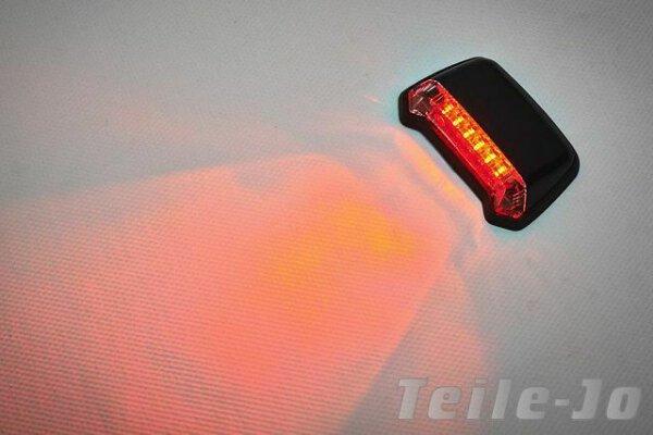 LED Mini Rücklicht a. Fender – schwarz – Klarglas – Cruiser  – Harley – Yamaha