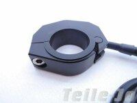 Lenkerschalter Alu schwarz CNC gefräst Tasterfuktion Universal 22 mm und 1 Zoll