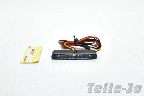 Mini LED Rücklicht und Bremslicht, flach, Klar-Glas, universal, micro, Motorrad