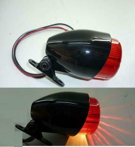 Mini Rücklicht – schwarz – mit schwenkbarem Sockel - mit E-Prüfzeichen