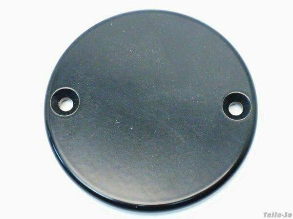 Motordeckel links Indian Chief in schwarz-seidenmatt 100 mm Durchmesser Cover