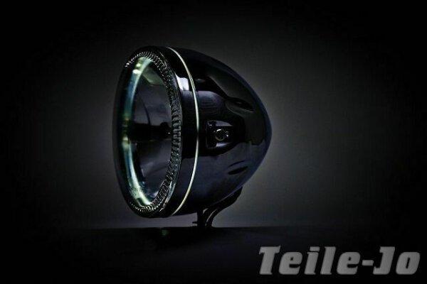 Scheinwerfer 5 3/4 Zoll Chrom mit LED Standlicht Klarglas Stritfigter SB