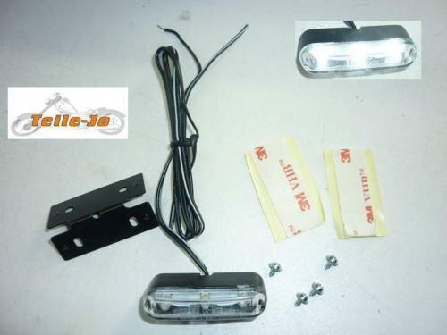 SHIN YO Universal TRI-LED-Standlicht mit Halter und selbstklebender Folie, 12V