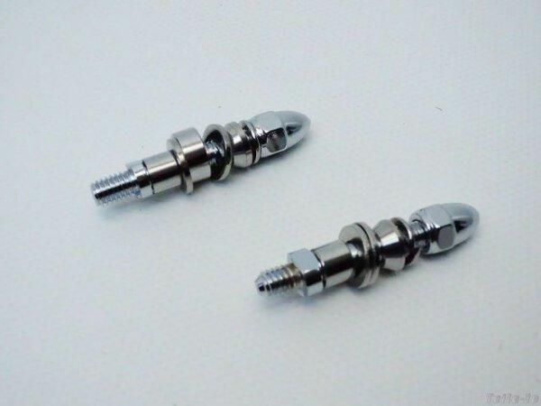 Spiegeladapter M8 x 1.25 – Chrom – Harley - NEU 1 Paar