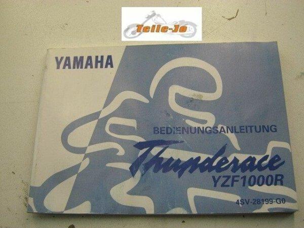 Thunderace YZF1000R YZF 1000 R Yamaha Handbuch Betriebsanleitung