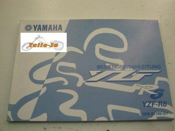 YZF-R6 R 6 Ausgabe 99 Yamaha Betriebsanleitung Handbuch