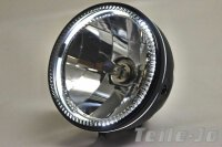 Headlight 5 3/4 inch black LED Stand Light Clear Styled...